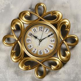 """Часы настенные, серия: Интерьер, """"Петли ажурные"""" d=39 см, плавный ход"""