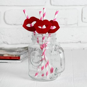 Трубочки для коктейля «Улыбочка», набор 4 шт., цвета МИКС