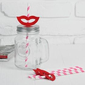 Трубочки для коктейля «Улыбка», набор 4 шт., цвета МИКС