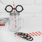 "Tubules for a cocktail ""Glasses"" (set 4 PCs) MIX color"