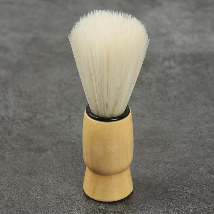 Помазок для бритья, деревянный - фото 7331689