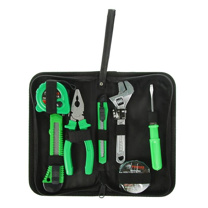 Набор инструментов в кейс-папке TUNDRA, универсальный, 7 предметов