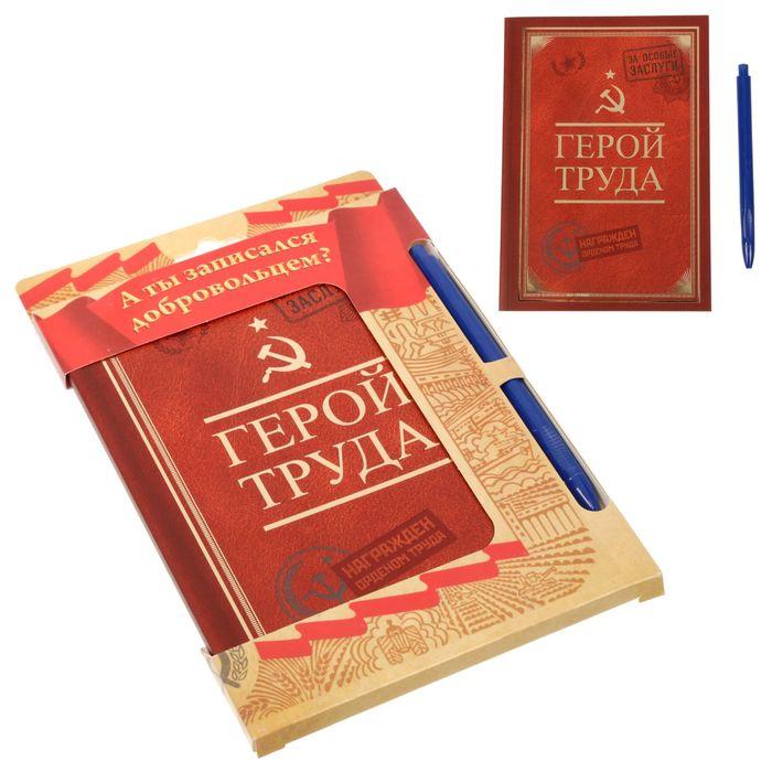 """Подарочный набор """"А ты записался добровольцем?"""": ежедневник и ручка"""