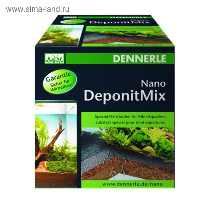 Специальная грунтовая подкормка Dennerle Nano Deponit Mix для мини-аквариумов. Готовая смесь, 1 кг.