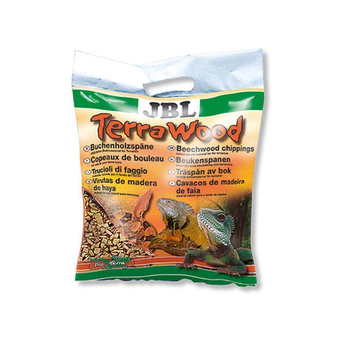 Буковая щепа, натуральный донный субстрат для сухих и полусухих террариумов, 20 л.,JBL TerraWood   1