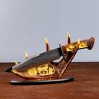Сувенирное изделие, на подставке с лосем, на лосинных рогах 38х20 см - фото 8875374