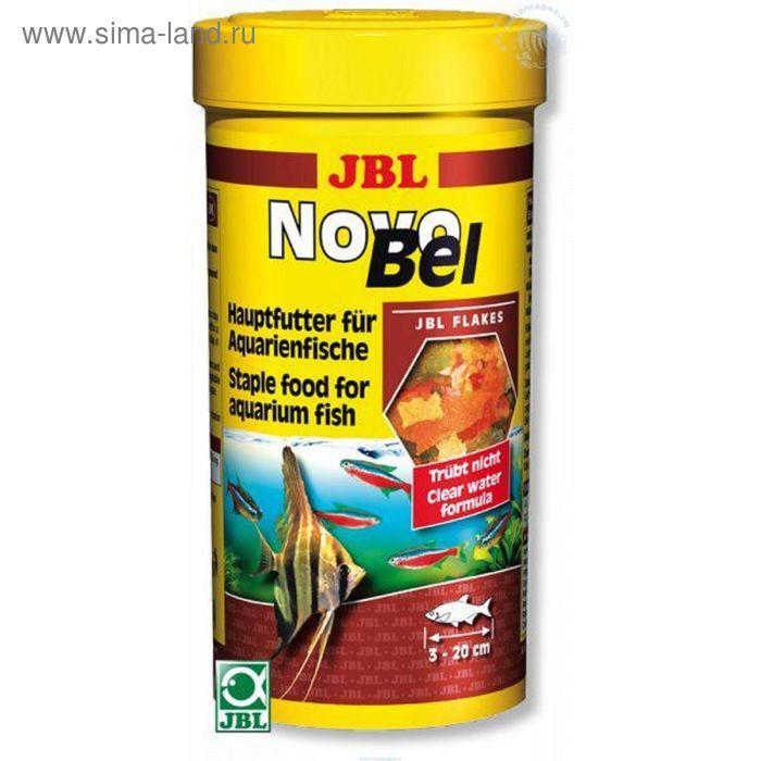Основной корм в форме хлопьев для всех аквариумных рыб,JBL NovoBel, 250 мл. (40 г.)