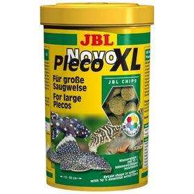 Водорослевые чипсы б. разм. JBL NovoPleco XL для кольчужных сомов, с целлюлозой