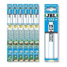 Люмин. Т5 лампа полн. солн. спектра для пресн. акв.,JBL SOLAR ULTRA NATUR,24 ватта, 438 мм., 9000 ке