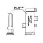 Корпус стерилизатора JBL AquaCristal UV-C 11W SERIES IIв комплекте с защитным кожухом из кварцевого