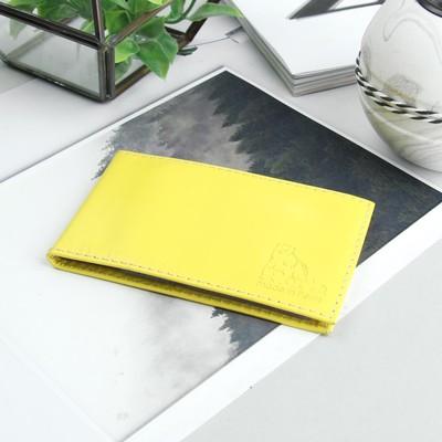 Визитница, 1 ряд, 18 листов, цвет жёлтый