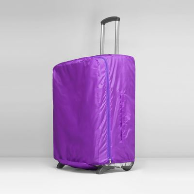 Чехол для чемодана, расширение по периметру, цвет сиреневый