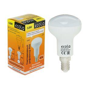Лампа светодиодная Ecola Light, R50, 5 Вт, E14, 2800 K, 85x50, теплый белый