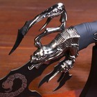 Сувенирный нож на подставке, скорпион на лезвии и рукоятке, 53,5 см - фото 872165