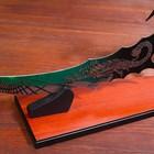 Сувенирный нож на подставке, скорпион на лезвии и рукоятке, 53,5 см - фото 872167