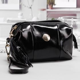 Косметичка-сумочка на молнии, 1 отдел, с ручкой, цвет чёрный Ош