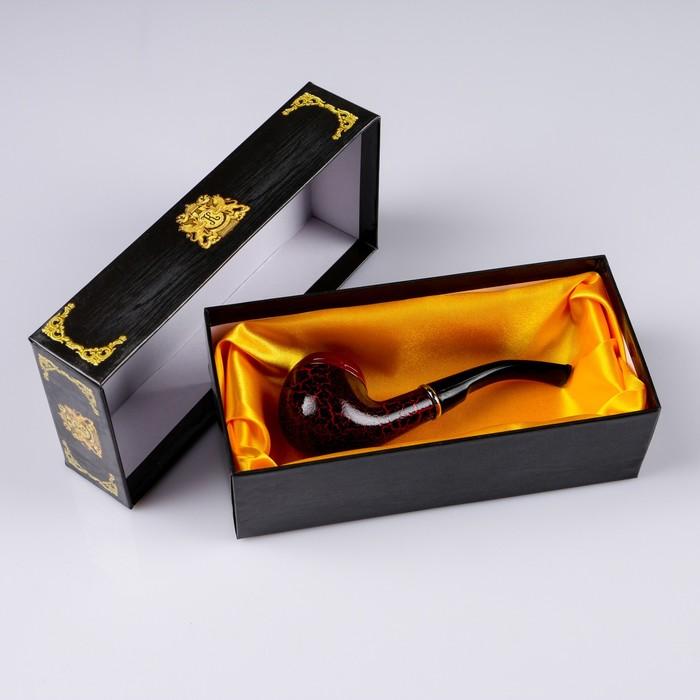 Трубка классическая с узким мундштуком, 14 см, тёмно-коричневая