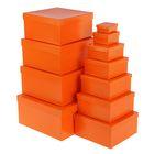 """Набор коробок 11в1 """"Оранжевый"""", однотонные, 25,5 х 25,5 х 13 - 5,5 х 5,5 х 2,5 см"""