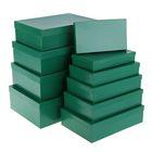 """Набор коробок 10в1 """"Зелёный"""", 36,5 х 26,5 х 12 - 23 х 13 х 3 см"""
