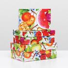 "Set boxes 3 in 1 ""fruit"", 19 x 12 x 7.5 - 15 x 10 x 5 cm"