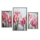 """Модульная картина в раме """"Тюльпаны"""", 20×35 — 2, 30×50 — 1, 50×70 см"""
