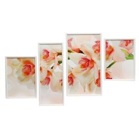 """Модульная картина в раме """"Бело-розовые цветы"""""""