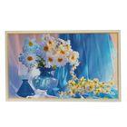"Картина ""Ромашки в синей вазе"" 64х104 см"