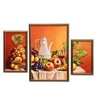 """Модульная картина в раме """"Фруктовый натюрморт"""", 19×35 — 1, 33×49 — 1, 17×29 — 1, 50×70 см"""