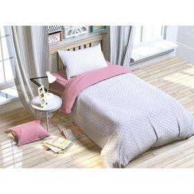 Постельное бельё 'Этелька' 1.5 сп. Розовая колыбельная 143х215 см, 150х214 см, 50х70 см, поплин Ош