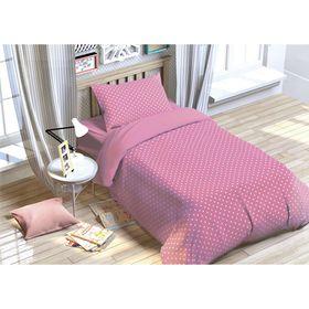 """Постельное бельё """"Этелька"""" 1.5 сп. Розовые сны 143х215 см, 150х214 см, 50х70 см, поплин"""