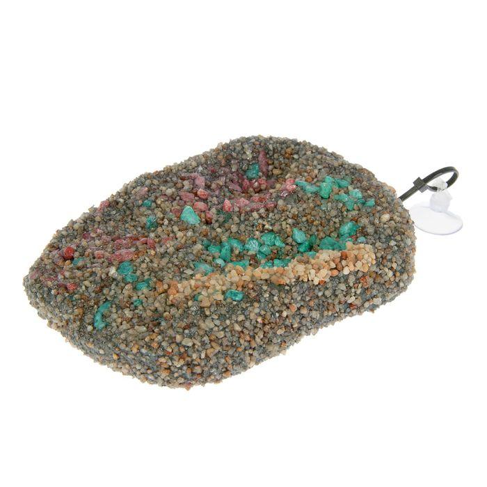 Плот для черепах MINI с присоской, плавающий, 8х12 см