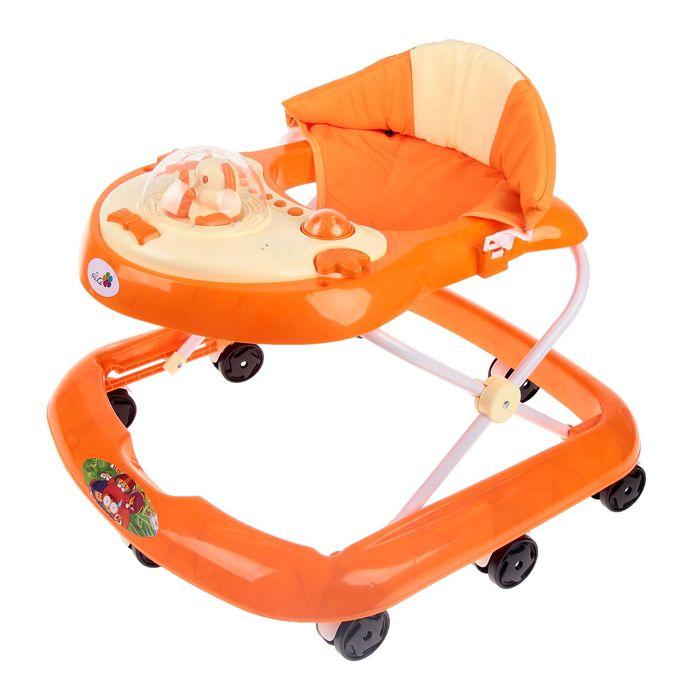 Ходунки «Водитель», музыкальные и световые эффекты, цвет оранжевый