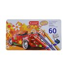 Набор художественных карандашей Bruynzeel-sakura Машина 58 цветов +ластик+точилка, в металлической коробке