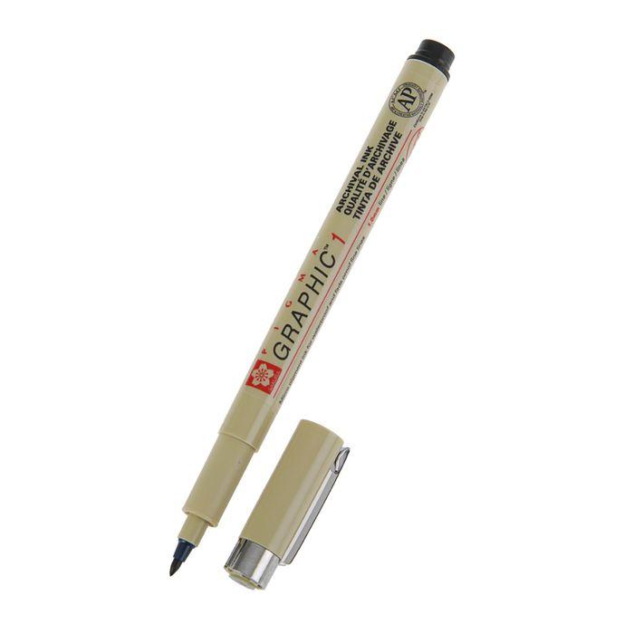 Ручка капиллярная для грфических работ и каллиграфии Sakura Pigma Graphic 1 чёрный 1.0 мм