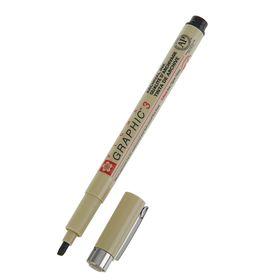 Ручка капиллярная для графических работ и каллиграфии Sakura Pigma Graphic 3 чёрный 3.0 мм