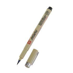 Ручка-кисть капиллярная, Sakura Pigma Brush, чёрный