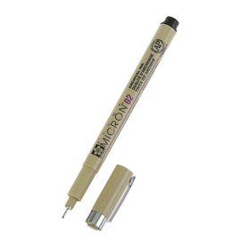 Ручка капиллярная для черчения Sakura Pigma Micron 02 линер 0.3 мм, черный, (высокое содержание пигмента)