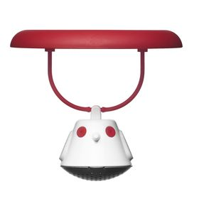 Емкость для заваривания чая с крышкой Birdie Swing, красная