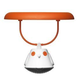 Емкость для заваривания чая с крышкой Birdie Swing, оранжевая