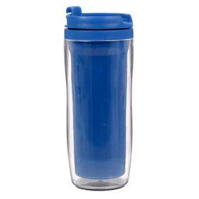 Термостакан под полиграфическую вставку, синий, 350 мл Ош