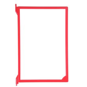 Рамка пластиковая для перекидной системы A4, без протектора, цвет красный