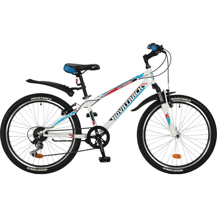 """Велосипед 24"""" Novatrack Extreme, 2017, 6ск., цвет белый, размер 10"""""""