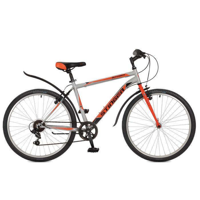"""Велосипед 26"""" Stinger Defender, 2017, цвет серый, размер 16"""""""