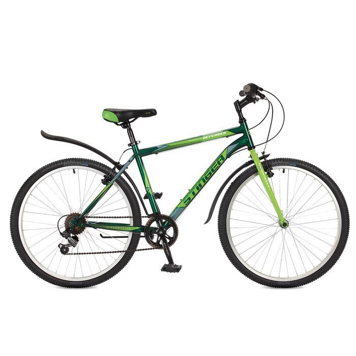 "Велосипед 26"" Stinger Defender, 2017, цвет зелёный, размер 16"""