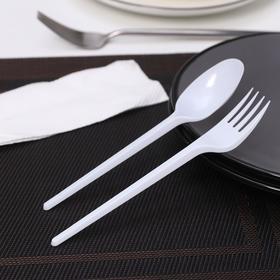 Набор 'Мини', 3 шт: вилка, столовая ложка, салфетка Ош