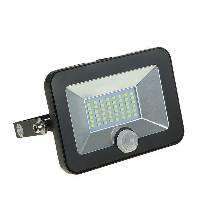 Прожектор светодиодный СДО-5Д-20, 20 Вт, 6500 К, 1500 Лм, IP65, с датчиком движения