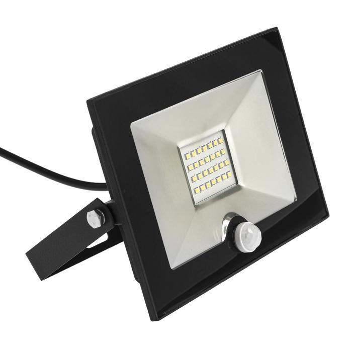 Прожектор светодиодный СДО-5Д-30, 30 Вт, 6500 К, 2250 Лм, IP65, с датчиком движения