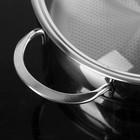 """Набор посуды """"Магнолия. Классика"""" 5 предметов: кастрюли 2,5 л, 3,5 л, 4,5 л сковорода 3 л, ковш 1,2 л, капсульное дно, стеклянные крышки - фото 896829"""