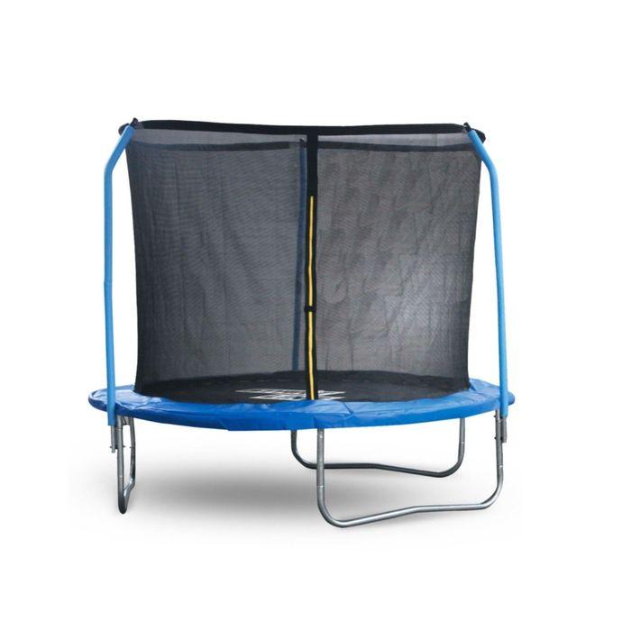Батут Start Line Fitness 8 футов (244 см) с внутренней сеткой и держателями сетки