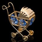 Сувенир «Детская коляска», с кристаллами Сваровски